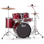 pearl center stage drum set - red
