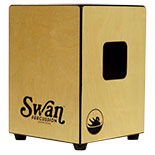swan percussion cygnet cajon - pinstripe