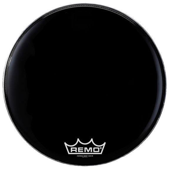 remo powermax 2 marching bass drum head ebony marching bass drum heads marching drum heads. Black Bedroom Furniture Sets. Home Design Ideas