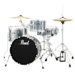 "pearl roadshow 4-piece drum set with 18"" bass drum hardware"