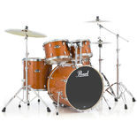 "pearl export 5 piece lacquer drum set with 22"" bass drum and hardware"