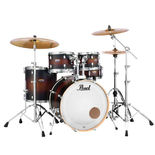 "Pearl Decade Maple 5 Piece Shell Pack With 20"" Bass Drum - White Satin Pearl Decade 5 Piece Maple Drum Set Shell Pack"