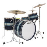 """ludwig club date vintage super classic shell pack - silver/blue duco with 22"""" bass drum"""