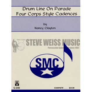 clayton-drum line on parade (four corps style cadences)