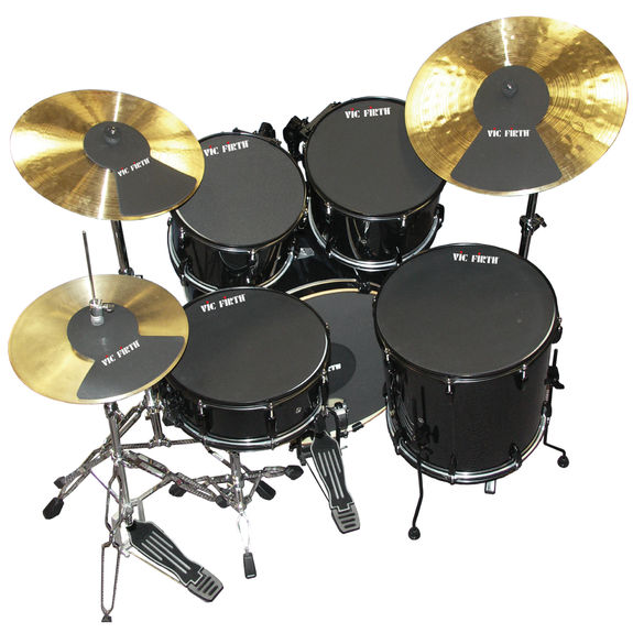 vic firth drum and cymbal mutes drum mute muffle drum pads drum muffles steve weiss music. Black Bedroom Furniture Sets. Home Design Ideas