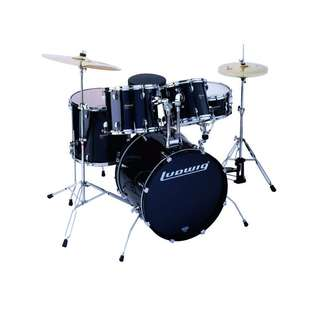 "ludwig accent cs combo power drum set with 22"" bass - deep toms"