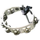 lp cyclops tambourine - white w/ steel jingles (lp162)