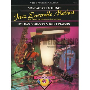 sorenson/pearson-standard of excellence jazz ens. method-vibes/aux. perc. (cd)