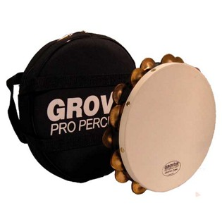 "grover 10"" double row tambourine - t2/bc"